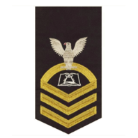 Vanguard NAVY E7 MALE RATING BADGE: CULINARY SPECIALIST - SEAWORTHY GOLD ON BLUE