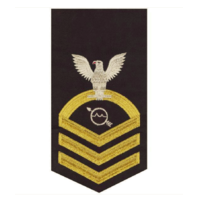 Vanguard NAVY E7 MALE RATING BADGE: OPERATIONS SPECIALIST SEAWORTHY GOLD ON BLUE