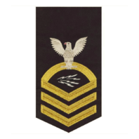 Vanguard NAVY E7 MALE RATING BADGE: INFOTECH SPECIALIST - SEAWORTHY GOLD ON BLUE