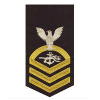 Vanguard NAVY E7 MALE RATING BADGE: SPECIAL WARFARE OPERATOR - SEAWORTHY GOLD ON BLUE