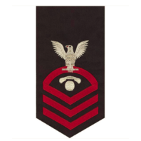 Vanguard NAVY E7 MALE BADGE INTERIOR COMMUNICATIONS ELECTRICIAN SEAWORTHY RED/BLUE