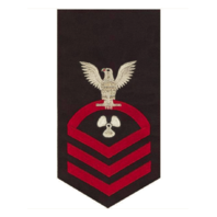 Vanguard NAVY E7 MALE RATING BADGE: MACHINIST'S MATE - SEAWORTHY RED ON BLUE