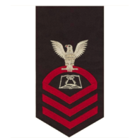 Vanguard NAVY E7 MALE RATING BADGE: CULINARY SPECIALIST - SEAWORTHY RED ON BLUE