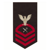 Vanguard NAVY E7 MALE RATING BADGE: SHIP'S SERVICEMAN - SEAWORTHY RED ON BLUE