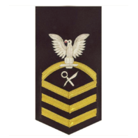 Vanguard NAVY E7 MALE RATING BADGE: INTELLIGENCE SPECIALIST - VANCHIEF ON BLUE