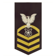 Vanguard NAVY E7 MALE RATING BADGE: MASTER AT ARMS - VANCHIEF ON BLUE