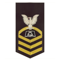 Vanguard NAVY E7 MALE RATING BADGE: CULINARY SPECIALIST - VANCHIEF ON BLUE