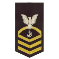 Vanguard NAVY E7 MALE RATING BADGE: NAVY COUNSELOR - VANCHIEF ON BLUE
