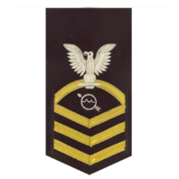 Vanguard NAVY E7 MALE RATING BADGE: OPERATIONS SPECIALIST - VANCHIEF ON BLUE