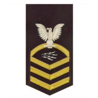 Vanguard NAVY E7 MALE RATING BADGE: INFORMATION TECHNICIAN SPECIALIST - VANCHIEF ON BLUE