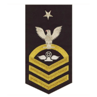 Vanguard NAVY E8 MALE RATING BADGE: AIR TRAFFIC CONTROL - SEAWORTHY GOLD ON BLUE