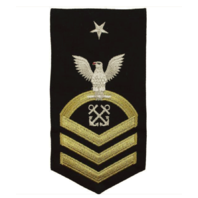 Vanguard NAVY E8 MALE RATING BADGE: BOATSWAINS MATE - SEAWORTHY GOLD ON BLUE