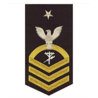 Vanguard NAVY E8 MALE RATING BADGE: CONSTRUCTION ELECTRICIAN - SEAWORTHY GOLD ON BLUE