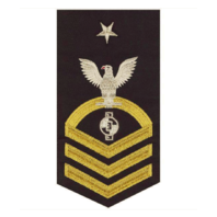 Vanguard NAVY E8 MALE RATING BADGE: ENGINEERING AIDE - SEAWORTHY GOLD ON BLUE