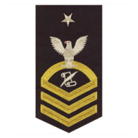 Vanguard NAVY E8 MALE RATING BADGE: JOURNALIST - SEAWORTHY GOLD ON BLUE