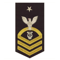 Vanguard NAVY E8 MALE RATING BADGE: MUSICIAN - SEAWORTHY GOLD ON BLUE