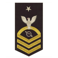 Vanguard NAVY E8 MALE RATING BADGE: OPERATIONS SPECIALIST - SEAWORTHY GOLD ON BLUE