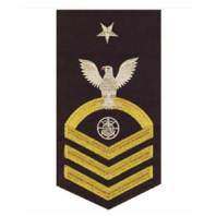 Vanguard NAVY E8 MALE RATING BADGE: RELIGIOUS PROGRAMS SPECIALIST - SEAWORTHY GOLD ON BLUE