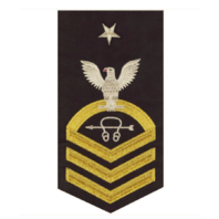 Vanguard NAVY E8 MALE RATING BADGE: SONAR TECHNICIAN - SEAWORTHY GOLD ON BLUE