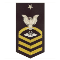 Vanguard NAVY E8 MALE RATING BADGE: AIR TRAFFIC CONTROL - VANCHIEF ON BLUE