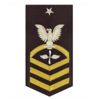 Vanguard NAVY E8 MALE RATING BADGE: AVIATION MACHINIST'S MATE - VANCHIEF ON BLUE