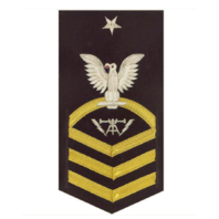Vanguard NAVY E8 MALE RATING BADGE: FIRE CONTROLMAN - VANCHIEF ON BLUE
