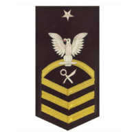 Vanguard NAVY E8 MALE RATING BADGE: INTELLIGENCE SPECIALIST - VANCHIEF ON BLUE