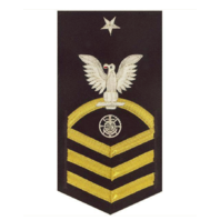 Vanguard NAVY E8 MALE RATING BADGE: RELIGIOUS PROGRAMS SPECIALIST - VANCHIEF ON BLUE