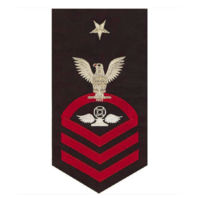 Vanguard NAVY E8 MALE RATING BADGE: AIR TRAFFIC CONTROL - SEAWORTHY RED ON BLUE