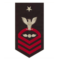 Vanguard NAVY E8 MALE RATING BADGE: AVIATION ELECTRICIAN'S MATE - SEAWORTHY RED ON BLUE
