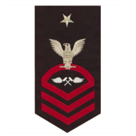 Vanguard NAVY E8 MALE RATING BADGE AVIATION STRUCTURE MECHANIC SEAWORTHY RED/BLUE