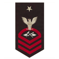 Vanguard NAVY E8 MALE BADGE: AVIATION SUPPORT EQUIPMENT TECH SEAWORTHY RED/BLUE