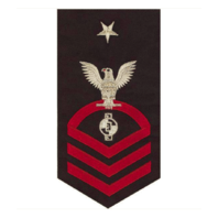 Vanguard NAVY E8 MALE RATING BADGE: ENGINEERING AIDE - SEAWORTHY RED ON BLUE