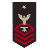 Vanguard NAVY E8 MALE RATING BADGE: FIRE CONTROL TECHNICIAN - SEAWORTHY RED ON BLUE