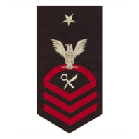 Vanguard NAVY E8 MALE RATING BADGE: INTELLIGENCE SPECIALIST - SEAWORTHY RED ON BLUE
