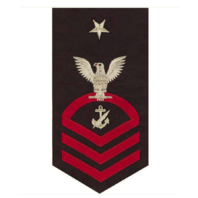Vanguard NAVY E8 MALE RATING BADGE: NAVY COUNSELOR - SEAWORTHY RED ON BLUE