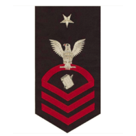 Vanguard NAVY E8 MALE RATING BADGE: PERSONNELMAN - SEAWORTHY RED ON BLUE