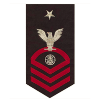 Vanguard NAVY E8 MALE RATING BADGE: RELIGIOUS PROGRAMS SPECIALIST - SEAWORTHY RED ON BLUE