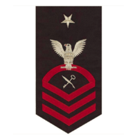 Vanguard NAVY E8 MALE RATING BADGE: SHIP'S SERVICEMAN - SEAWORTHY RED ON BLUE