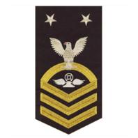 Vanguard NAVY E9 MALE RATING BADGE: AIR TRAFFIC CONTROL - SEAWORTHY GOLD ON BLUE