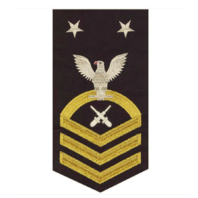 Vanguard NAVY E9 MALE RATING BADGE: GUNNER'S MATE - SEAWORTHY GOLD ON BLUE