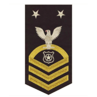 Vanguard NAVY E9 MALE RATING BADGE: MASTER AT ARMS - SEAWORTHY GOLD ON BLUE