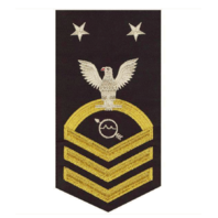 Vanguard NAVY E9 MALE RATING BADGE OPERATIONS SPECIALIST SEAWORTHY GOLD ON BLUE