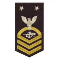 Vanguard NAVY E9 MALE RATING BADGE: SPECIAL WARFARE OPERATOR - SEAWORTHY GOLD ON BLUE