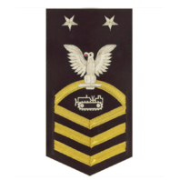 Vanguard NAVY E9 MALE RATING BADGE: EQUIPMENT OPERATOR - VANCHIEF ON BLUE