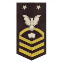 Vanguard NAVY E9 MALE RATING BADGE: MINEMAN - VANCHIEF ON BLUE