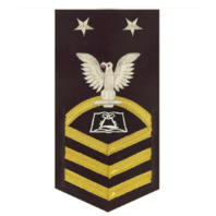 Vanguard NAVY E9 MALE RATING BADGE: CULINARY SPECIALIST - VANCHIEF ON BLUE