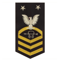 Vanguard NAVY E9 MALE RATING BADGE: SONAR TECHNICIAN - VANCHIEF ON BLUE