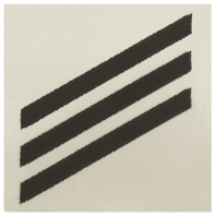 Vanguard NAVY E3 RATING BADGE: SEAMAN - BLUE CHEVRONS ON WHITE CNT