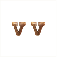 "Vanguard RIBBON ATTACHMENTS: 1/4"" LETTER V - BRONZE"